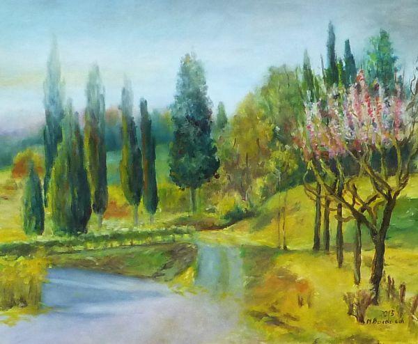 ,,Tuscany,,- 2015 - canvas oil, 50 x 60