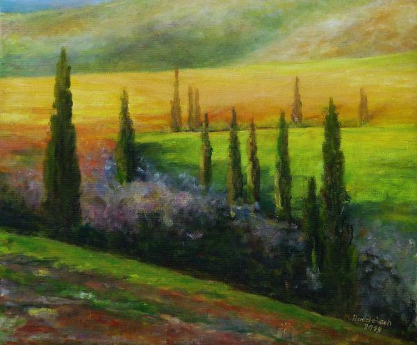 ,,Toskania,,- 2015 , olej-płótno , 50 x 60